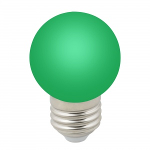 DECOR COLOR LED-G45-1W/GREEN/E27/FR/С