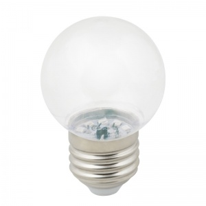 DECOR COLOR LED-G45-1W/3000K/E27/CL/С