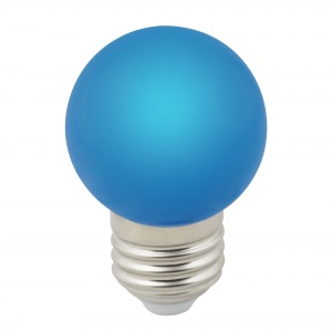 DECOR COLOR LED-G45-1W/BLUE/E27/FR/С