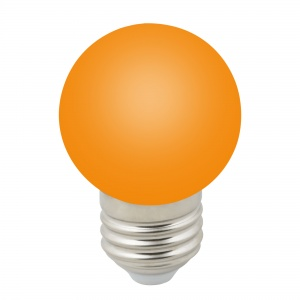 DECOR COLOR LED-G45-1W/ORANGE/E27/FR/С