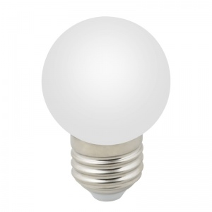 DECOR COLOR LED-G45-1W/6000K/E27/FR/С